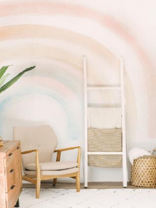 Elsi Rainbow Baby Nursery Room Mural Wallpaper