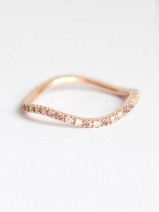 Curvy Stackable Eternity Diamond Ring