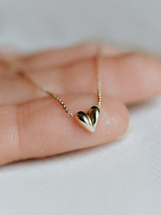 Puffy Heart Charm Necklace