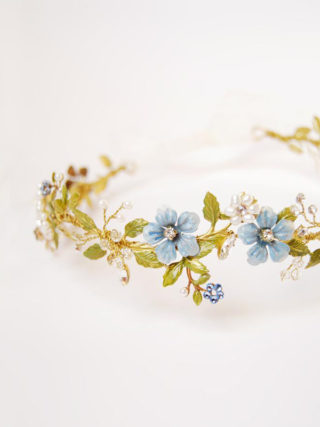 Something Blue Flower Hair Crown