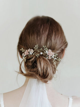 Pink Foliage Hair Crown