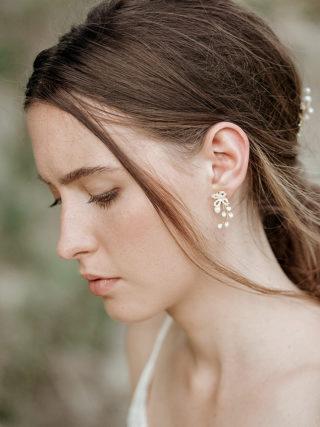 Beaded Blush Pearl Earrings