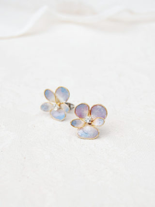 Pansy Studs Earrings