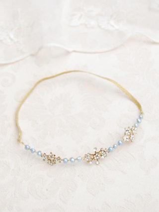 Starry Crystal Something Blue Garter