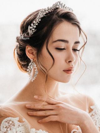 Naomi Bridal Silver Tiara