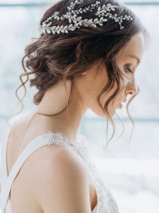 Polina Pearl Rhinestone Headpiece