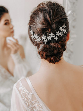 Stella Silver Starry Hair Pins