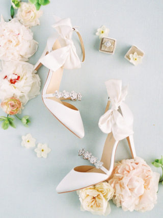 Ivory white wedding shoes