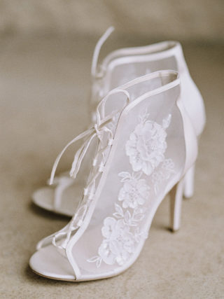 Ivory White Wedding Booties