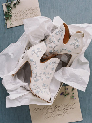 White Wedding Bridal Booties