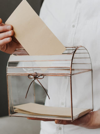 Rustic Chest Wedding Card Holder