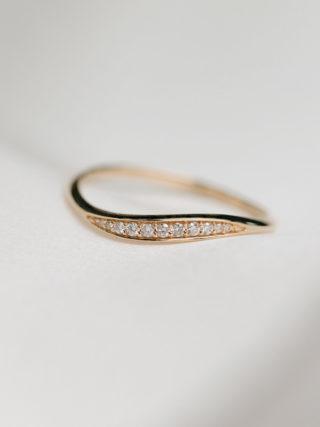 Diamond Wave Semi Eternity Wedding Band