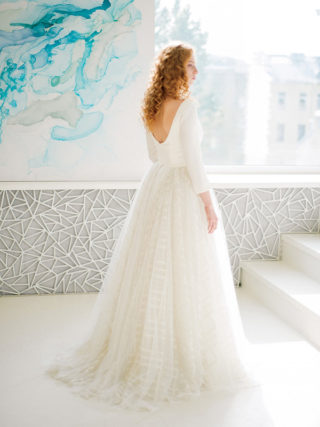 Eir Long Sleeve Wedding Dress