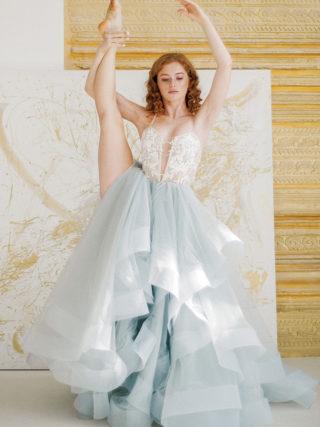 Fjorgyn Fairy Tale Horsehair Trim Wedding Dress