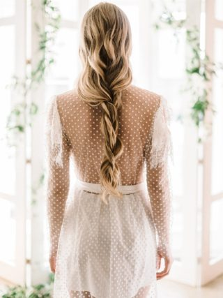 Lyla Polka Dot Tulle Wrap Robe Gown