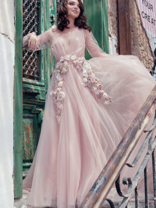 Blush Floral Fairy Tale Wedding Dress
