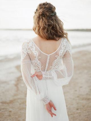 Elle Long Sleeve Lace Wedding Dress