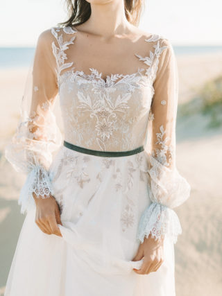 Jean Long Sleeve Bohemian Lace Wedding Dress