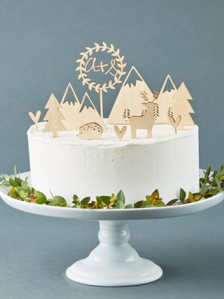 Customized Woodlands Cake Topper Set