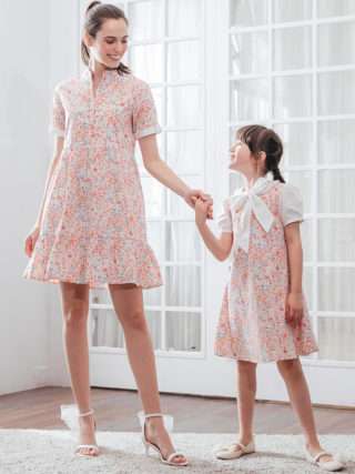 Sweet Vanilla Bouquet A-Line Mother Daughter Matching Dresses