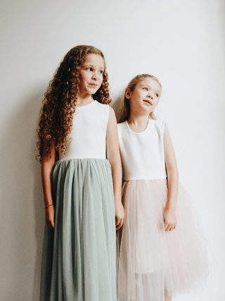 Pastel Tutu Flower Girl Dress