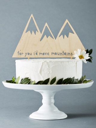 Mountains Lasercut Cake Topper