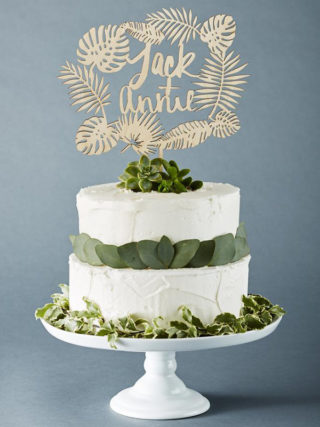 Custom Tropical Wedding Cake Topper