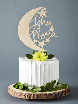 Custom Moon and Stars Cake Topper