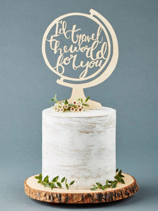 Globe Travel Adventure Cake Topper
