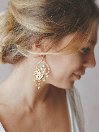 Sweet Blush Blossom Drop Earrings