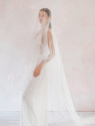 Long Cathedral Veil with Blusher