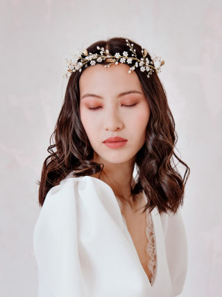 White Woodland Flower Crown
