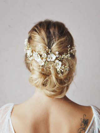 Dramatic Soft Blooming Headpiece