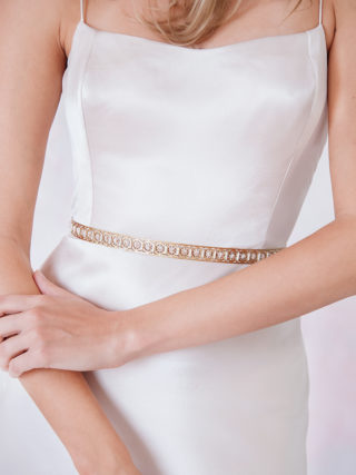 Sleek Modern Beaded Belt