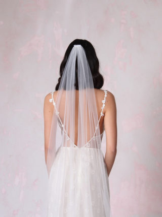 Long Tulle Veil with Split Train