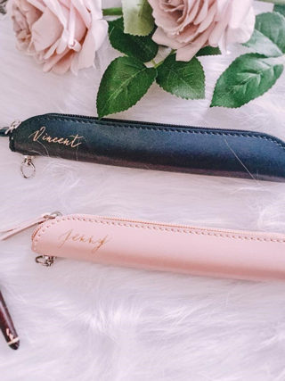 Personalized Calligraphy Apple Pencil Case Pen Pouch