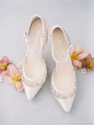 Emma Ivory Crystal Embellished D'Orsay Heel