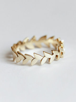 Leaf Vine Full Eternity Wedding Band