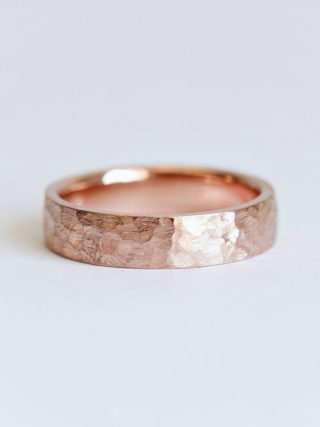 Minimalist Hammered Unisex Wedding Band