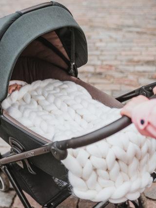 Merino Wool Baby Stroller Blanket