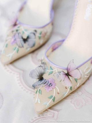 Eve Lavender Butterfly Heels
