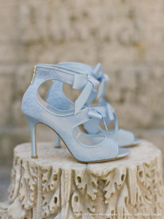 Jane Blue Lace Heels