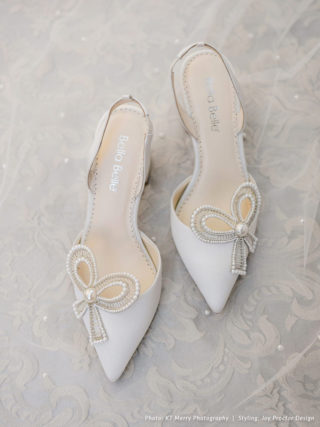 Pearl Bow Slingback Shoes