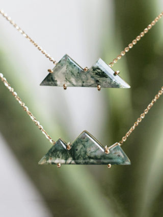 Moss Agate Mountain Necklace