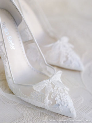 White Flower Lace Shoes