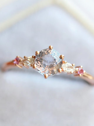 Fairy Tale Pastel Sapphire Engagement Ring